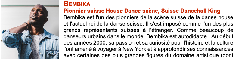 Teacher @ Summerdance 2020 for DanseSuisse